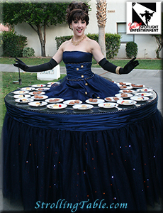 midnight elegance strolling table