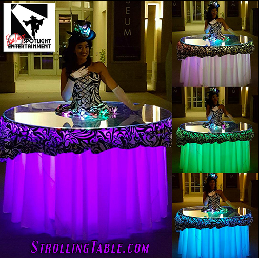 led strolling tables