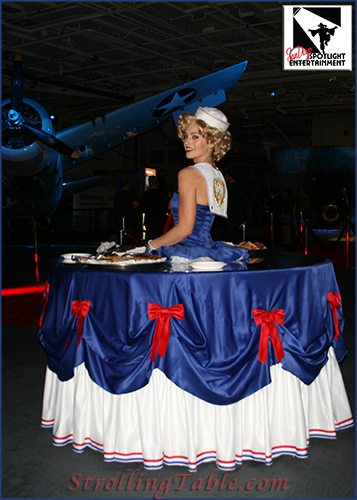USO sailor strolling table