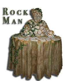 living human strolling rock table
