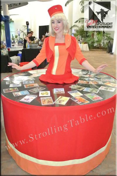 stewardess strolling table
