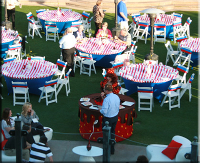 strolling table for lawn parties
