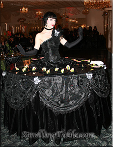 strolling table black elegance